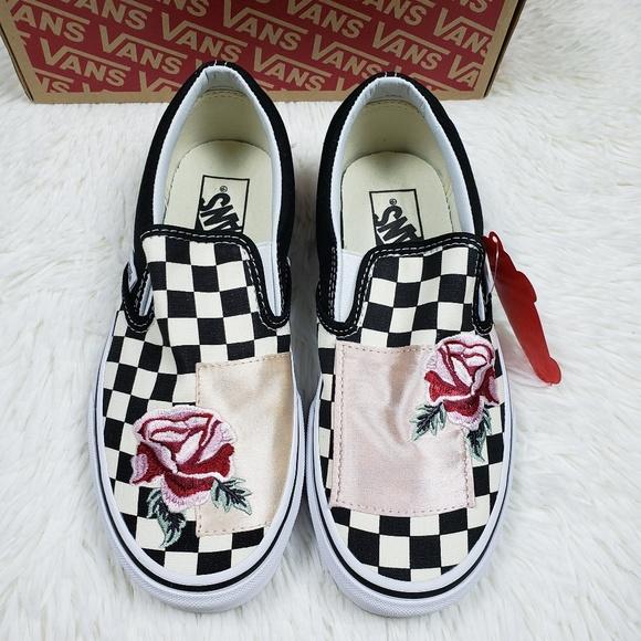 Get - vans checkerboard flowers - OFF